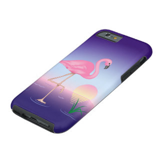 Pink Flamingo Tough iPhone 6 Case