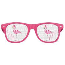Pink Flamingo Tropical Bird Beach Island Paradise Retro Sunglasses