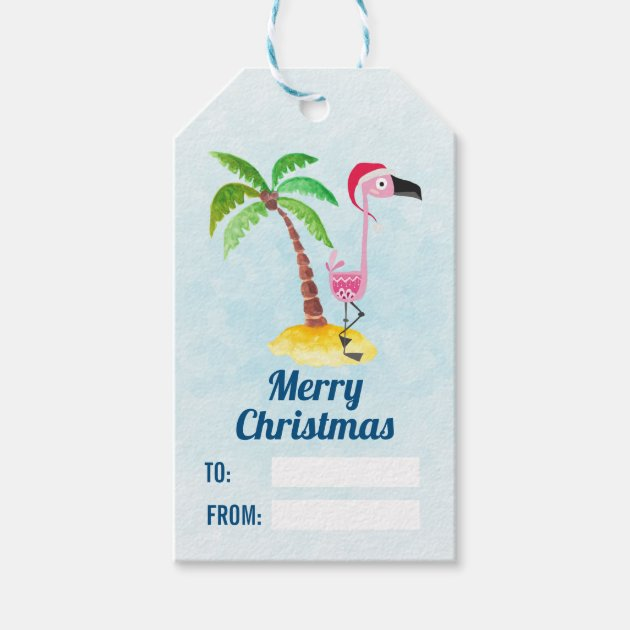 Flamingo tags Christmas Flamingo tags Pink Christmas tags