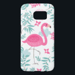 "Pink Flamingo &amp; Tropical Flowers Pattern GS7 Samsung Galaxy S7 Case<br><div class=""desc"">Pink cute flamingo and tropical flowers and leafs seamless pattern GS7</div>"