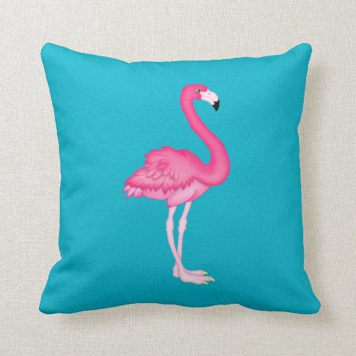 Pink Flamingo Tropical Throw Pillow Home Decor Zazzle