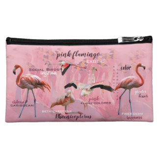 Pink Flamingo Typography | Customized Makeup Bag