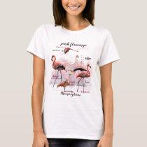 Pink Flamingo Typography   Customized T-Shirt