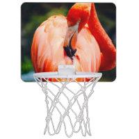 Pink Flamingo Vertical Animal Photography Mini Basketball Backboard