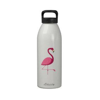 Pink Flamingo Water Bottles