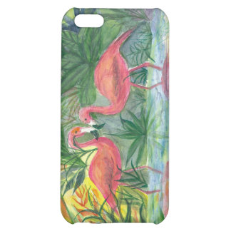 Pink Flamingo Watercolor Painting iPhone 5C Case