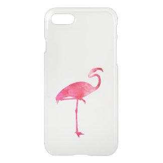 Pink Flamingo Watercolor Silhouette Florida Birds iPhone 8/7 Case