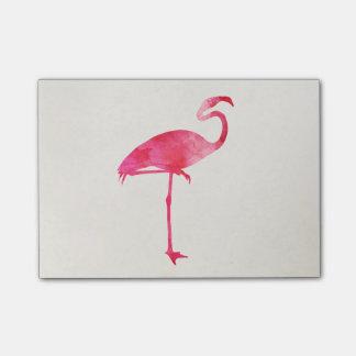 Pink Flamingo Watercolor Silhouette Florida Birds Post-it® Notes