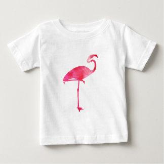 Pink Flamingo Watercolor Silhouette Florida Birds T-shirt