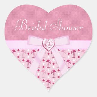 Pink Flamingo Wonderland Bridal Shower Stickers