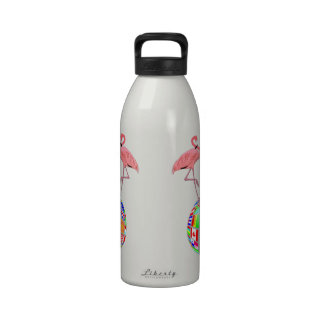 pink flamingo world domination drinking bottles