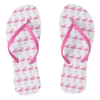 Pink Flamingoes Flip Flops