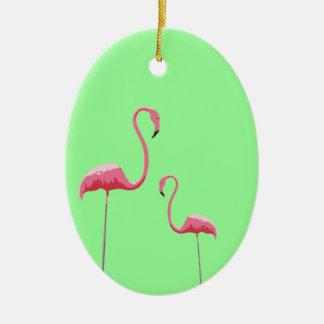 Pink Flamingoes Ornament