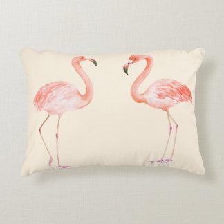Pink Flamingos Accent Pillow