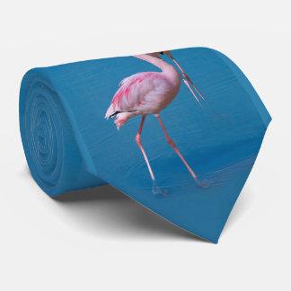 Pink Flamingos at the Lake Tie