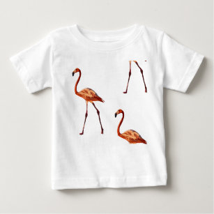7bea5cb06 Pink Flamingo Drawing Baby Tops & T-Shirts | Zazzle