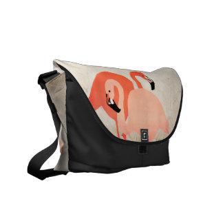 Pink Flamingos Beach Wedding Courier Bag