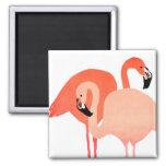 Pink Flamingos Beach Wedding Fridge Magnet