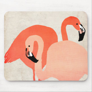 Pink Flamingos Beach Wedding Mouse Pad