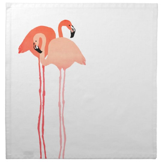 Pink Flamingos Beach Wedding Napkin