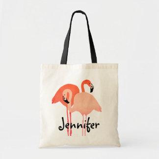 Pink Flamingos Beach Wedding Tote Bag