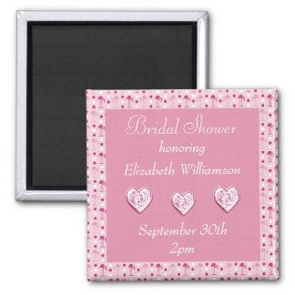 Pink Flamingos Bridal Shower Reminder Magnet