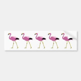 Pink Flamingos Car Bumper Sticker
