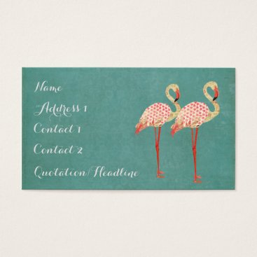 Professional Business Pink Flamingos Business Card