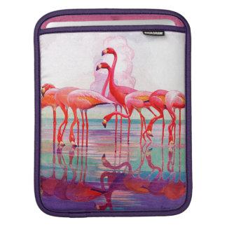 Pink Flamingos by Francis Lee Jaques iPad Sleeves