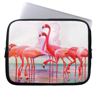 Pink Flamingos by Francis Lee Jaques Laptop Sleeve
