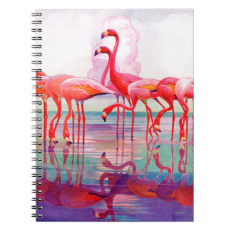 Pink Flamingos by Francis Lee Jaques Notebook