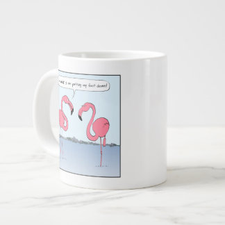 Pink Flamingos Cartoon - Goofy Humor 20 Oz Large Ceramic Coffee Mug