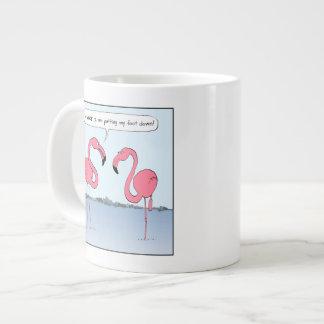 Pink Flamingos Cartoon - Goofy Humor Giant Coffee Mug
