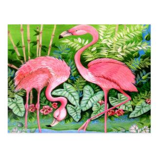Pink Flamingos Design Postcard
