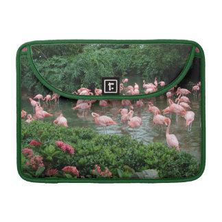 Pink Flamingos Flap Sleeve MacBook Pro Sleeve