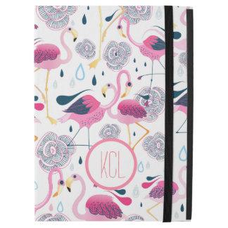 Pink Flamingos & Flowers Illustration Pattern iPad Pro Case