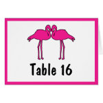 Pink Flamingos Folded Table Number Cards
