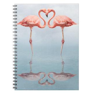 Pink Flamingos in Love Notebook