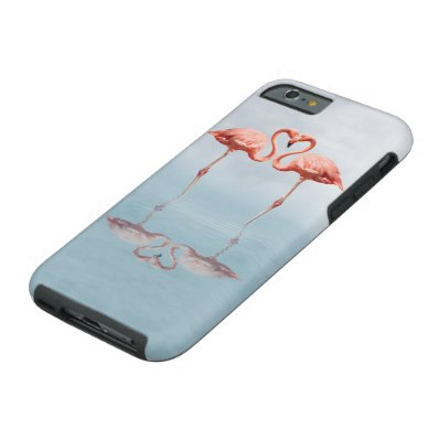 Pink Flamingos in Love Tough iPhone 6 Case
