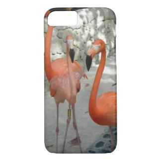 Pink flamingos iPhone 7 Case