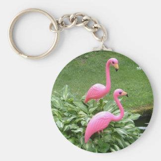 PINK FLAMINGOS keychain