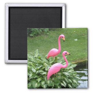 PINK FLAMINGOS magnet (square)