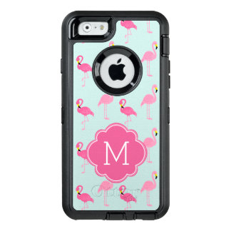 Pink Flamingos Monogrammed OtterBox iPhone 6/6s Case
