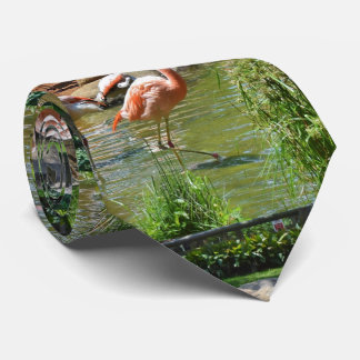 Pink Flamingos Neck Tie