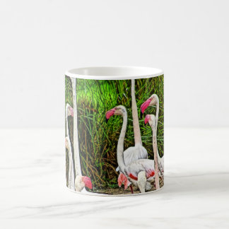 Pink Flamingos Painting Classic White Coffee Mug