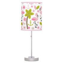 Pink Flamingos   Palm Trees Lamp