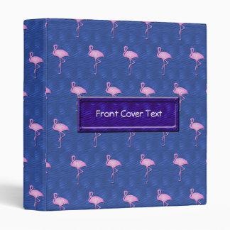 Pink flamingos pattern binder