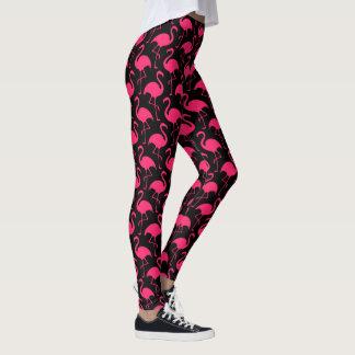 Pink Flamingos Pattern Leggings