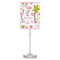 Pink Flamingos Personalized Lamp