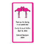 Pink Flamingos Personalized Wine Labels